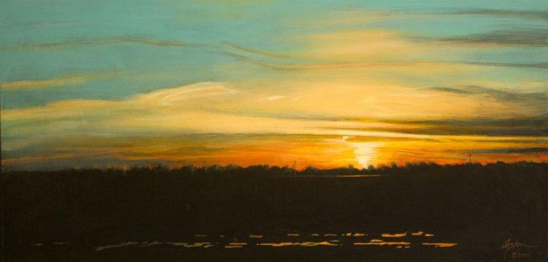 Sunset Near Lake Village