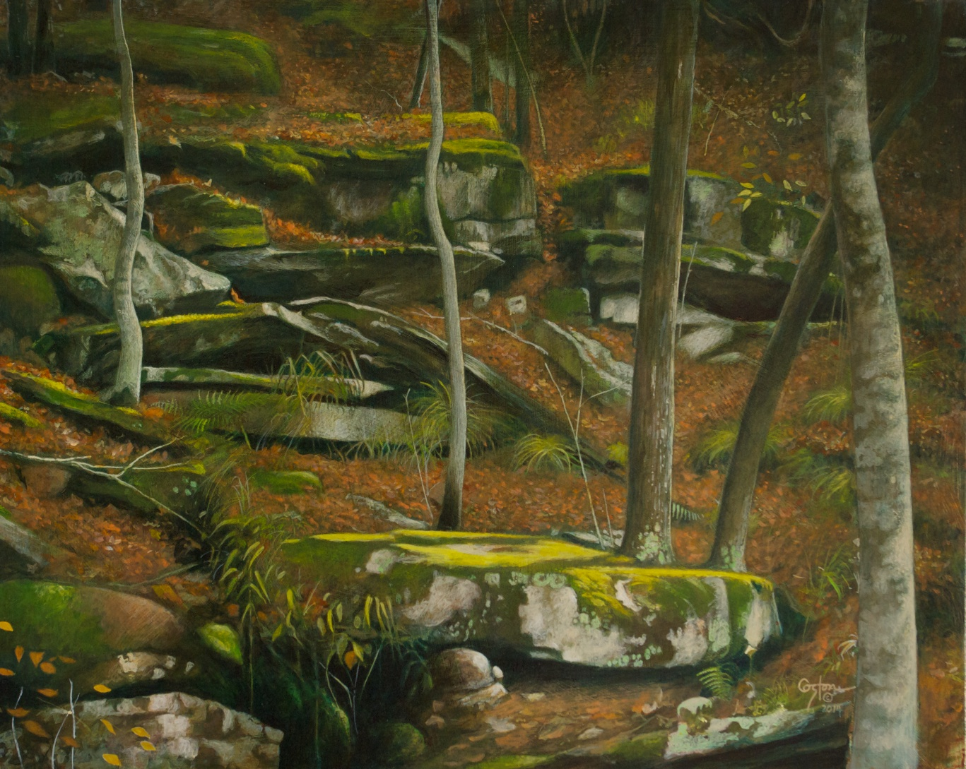 Trees Descending a Staircase, Daniel Coston, 2014