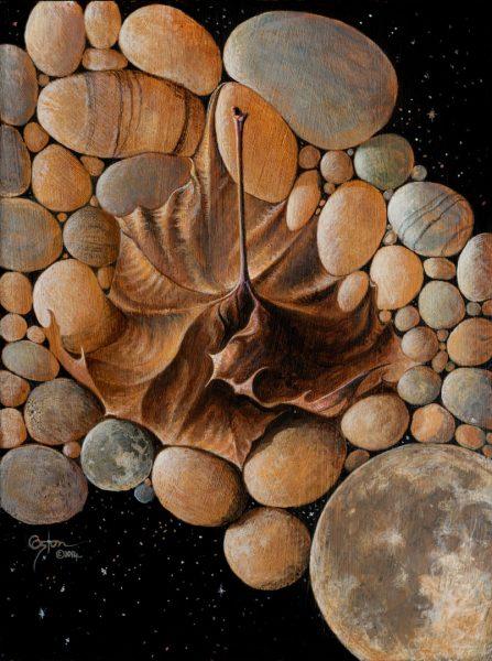 """Moon Rocks"" is an acrylic painting by artist Daniel Coston"