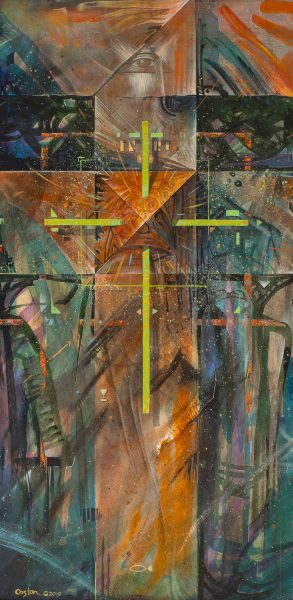 """""""Abstract Belief"""" is an acrylic painting by artist Daniel Coston"""
