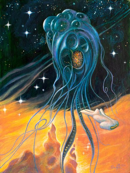 """""""Encounter"""" is an acrylic painting by artist Daniel Coston"""