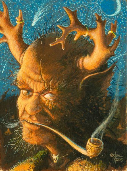 """Leprechaun"" is an acrylic painting by artist Daniel Coston"