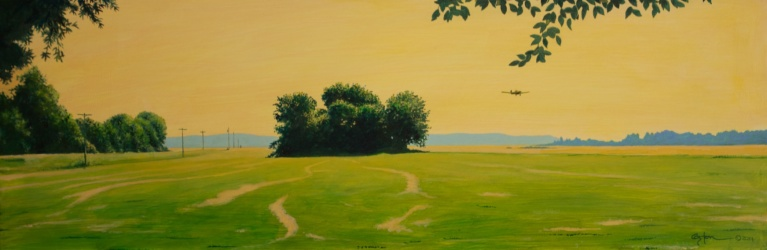 Daniel Coston Art, Acrylic Painting, Delta Landscape, Original Artwork